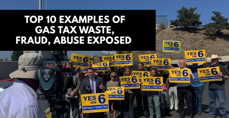 Reform California Releases Top 10 Worst Examples of Waste, Fraud and Abuse of Gas Tax Funds in Caltrans and Local Transportation Agencies