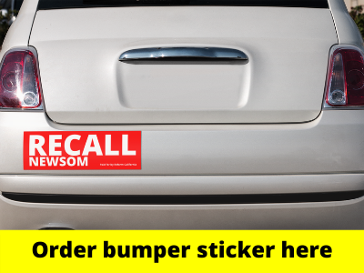 Order your Recall Gavin Newsom Bumper Sticker
